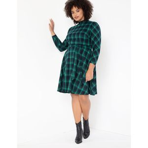 Eloquii Fit and Flare Plaid Dress NWT